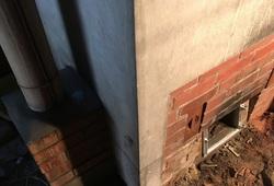 焚口と煙突の修理